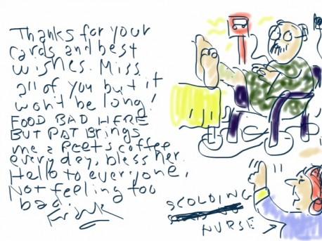 frank sketch from hospital